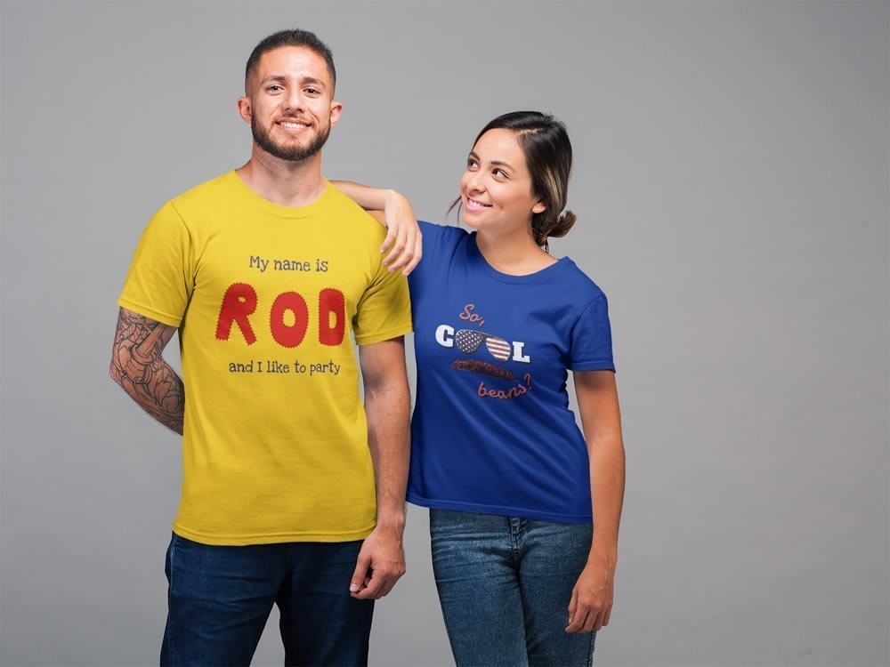 big sale 568f8 7d1cf Hot Rod T-Shirt – My Name Is Rod, I Like To Party – Men/Unisex